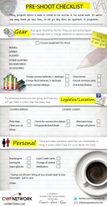PreShoot Checklist Infographic