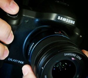 Samsung Galaxy NX in hands